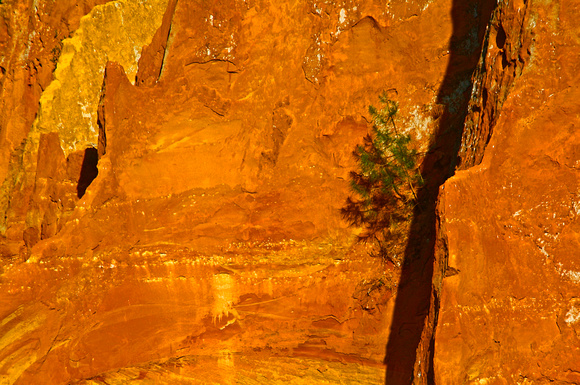 OCHRE CLIFF, ROUSSILLON, PROVENCE, FRANCE