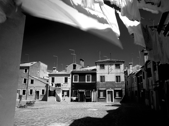 LAUNDRY IN THE BREEZE, BURANO, ITALY,